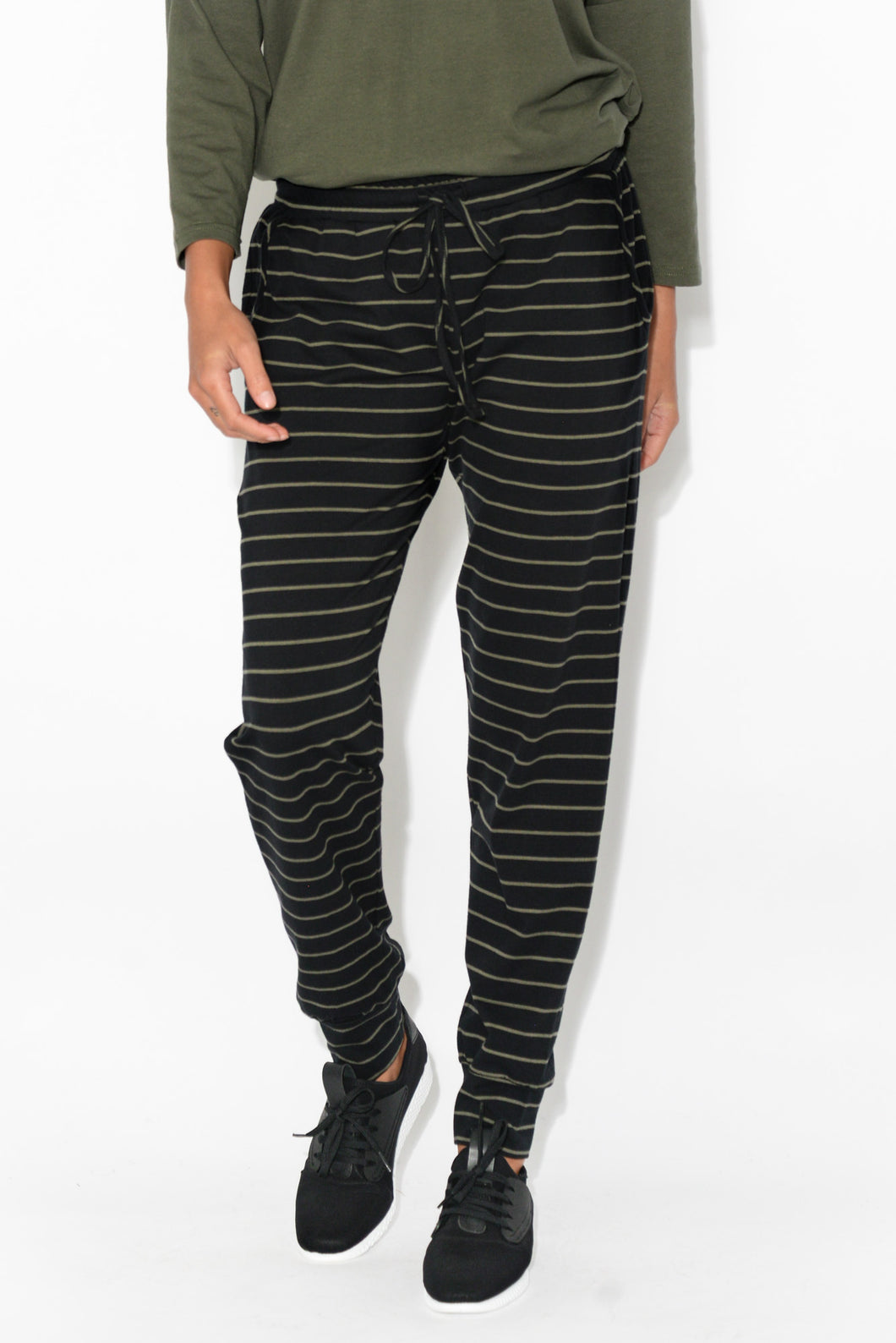 Khaki Stripe Everyday Pant