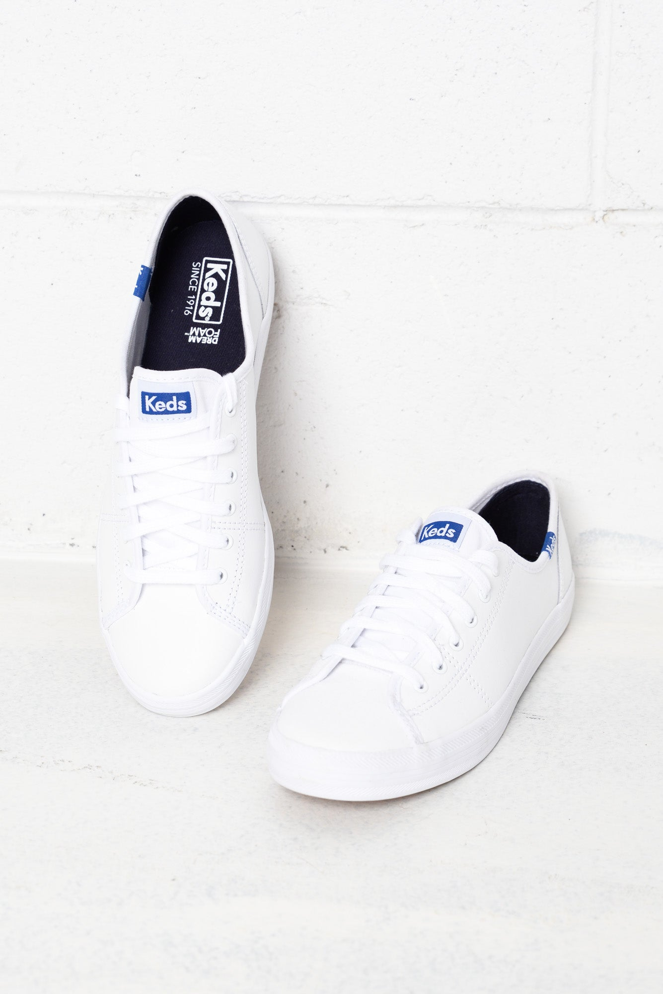 Kickstart White Leather Sneaker