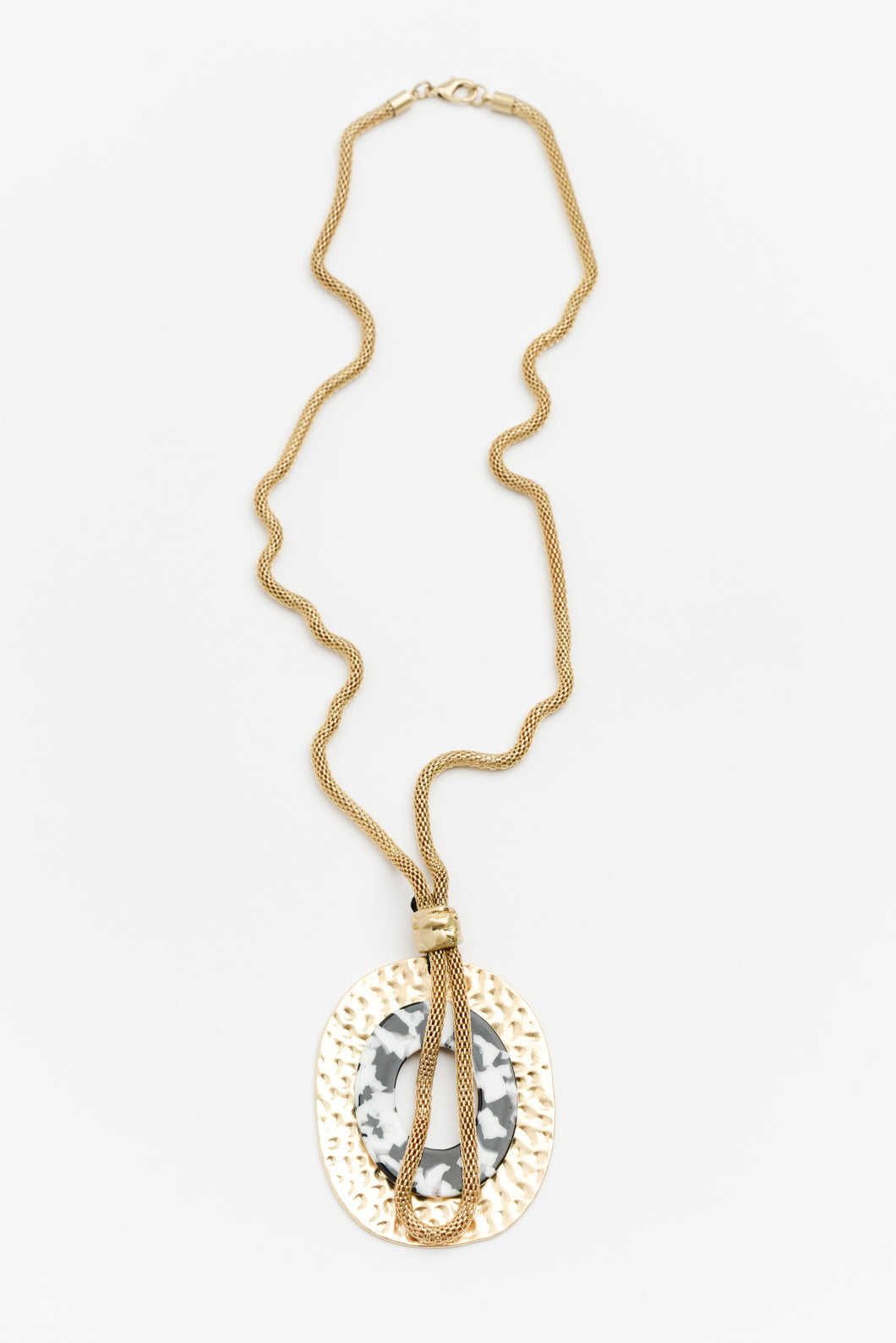 Kimberley Gold Resin Necklace - Blue Bungalow