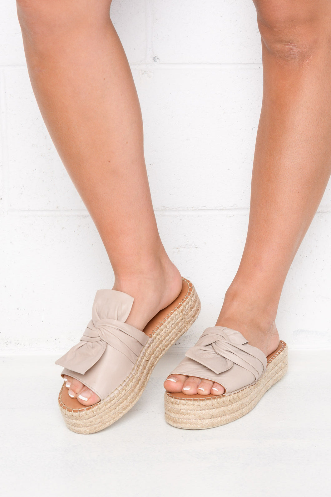 Kooma Silver Platform Leather Sandal
