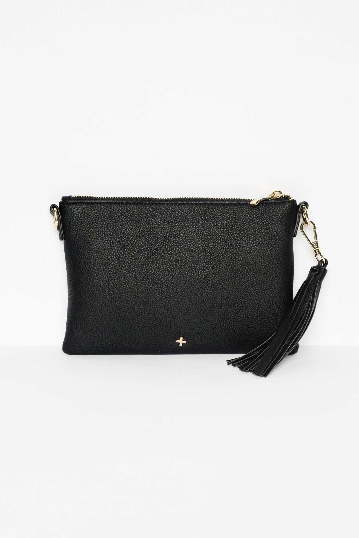 Kourtney Black Vegan Leather Clutch - Blue Bungalow