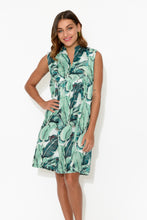 Kuranda Green Leaves Cotton Dress