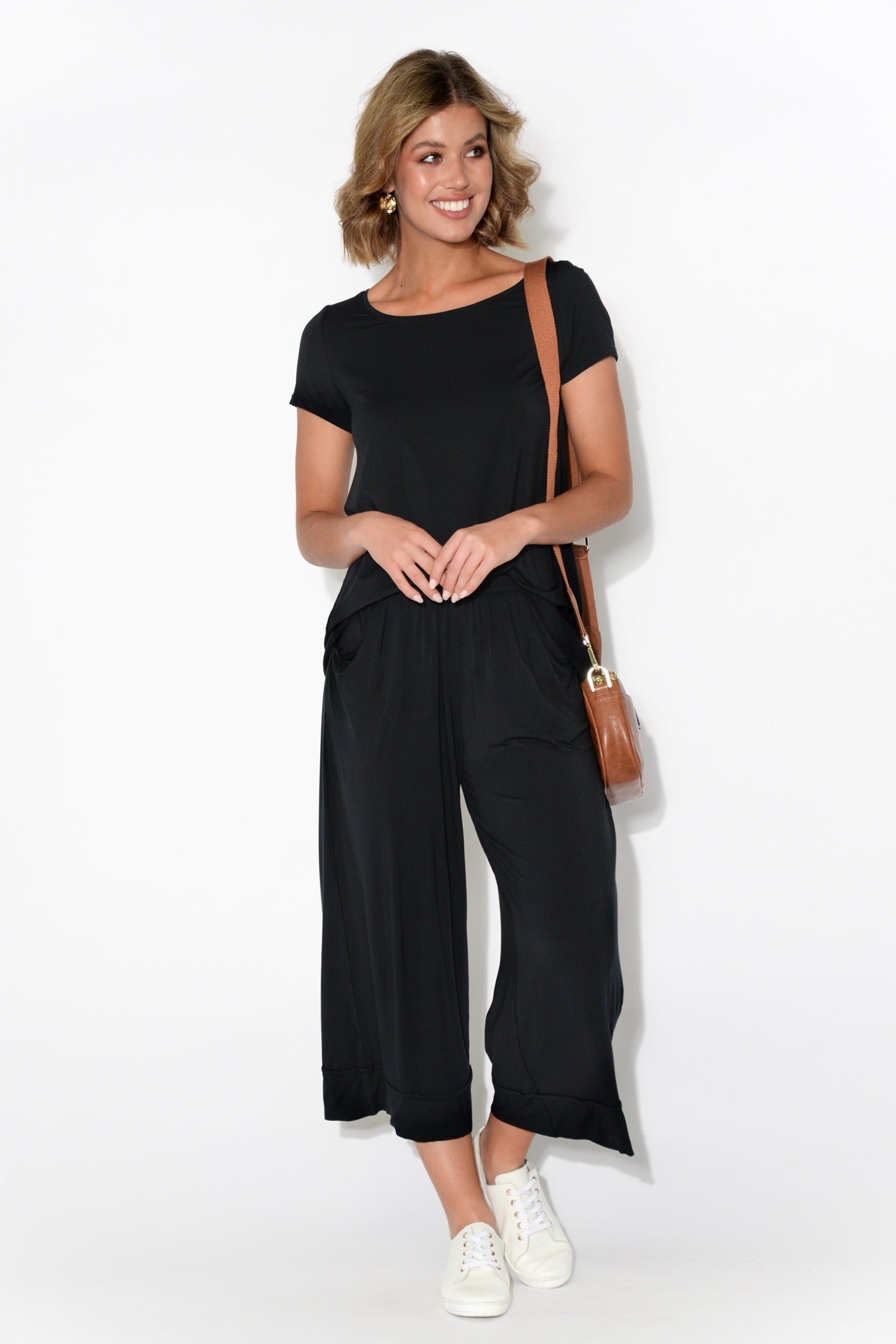Lena Black Modal Resort Pant