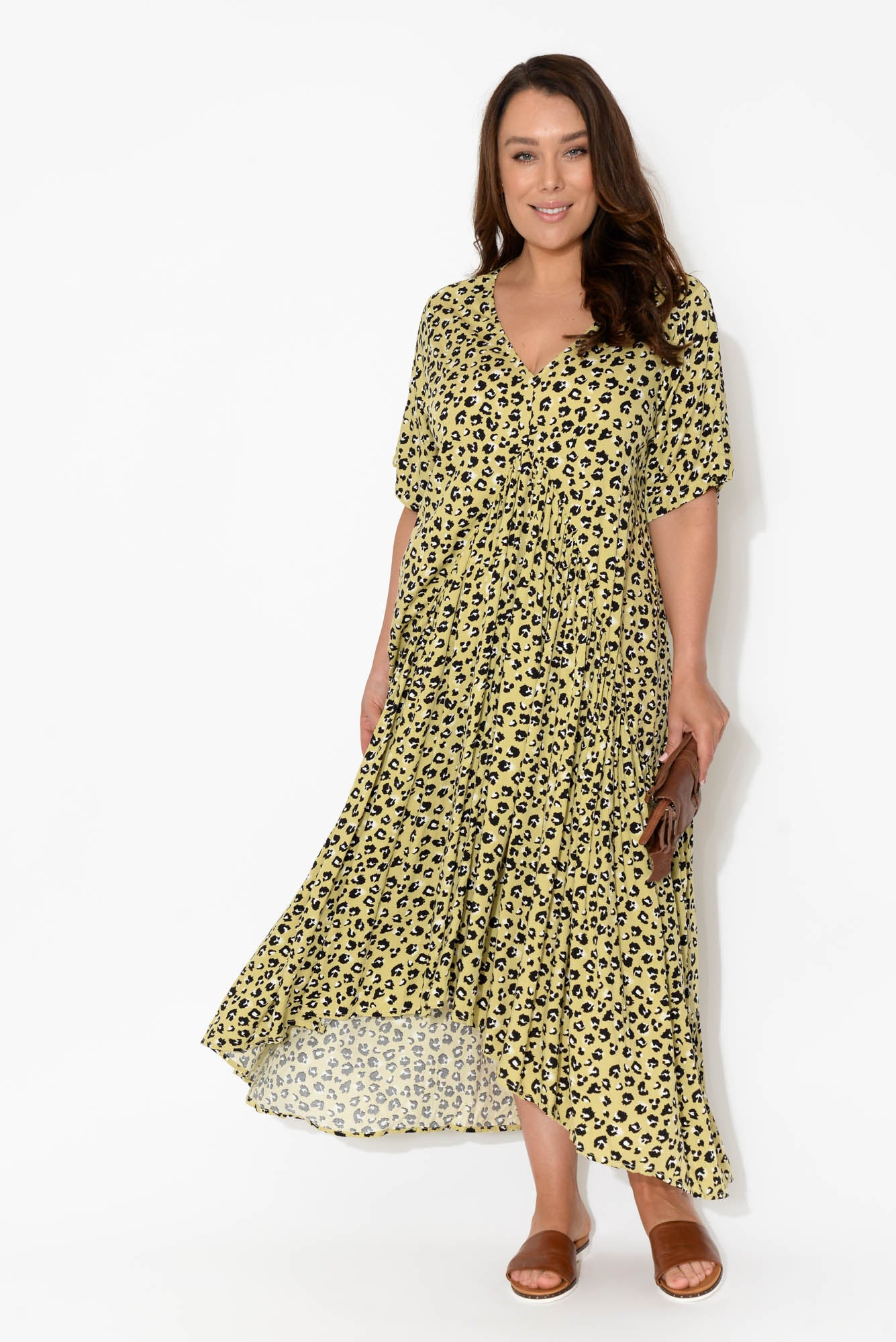 ebe739f6b8 PRE ORDER Leopard Peak Maxi Dress - Blue Bungalow. Hover to zoom