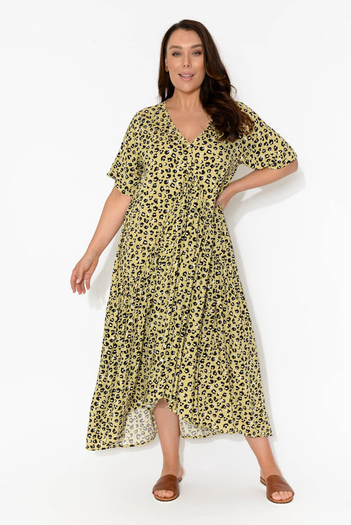 Leopard Peak Maxi Dress
