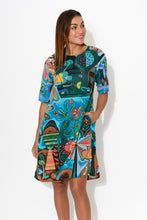 Leros Tropical Sleeved Dress