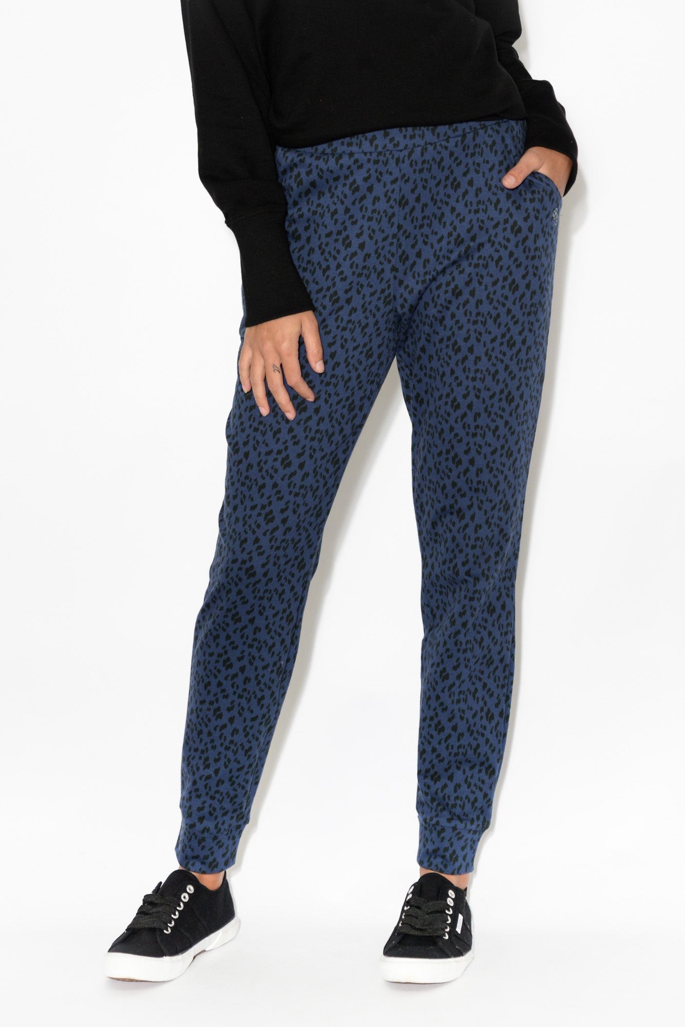 Lindsay Navy Animal Jogger Pant