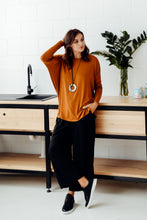 Liv Rust Draped Bamboo Top