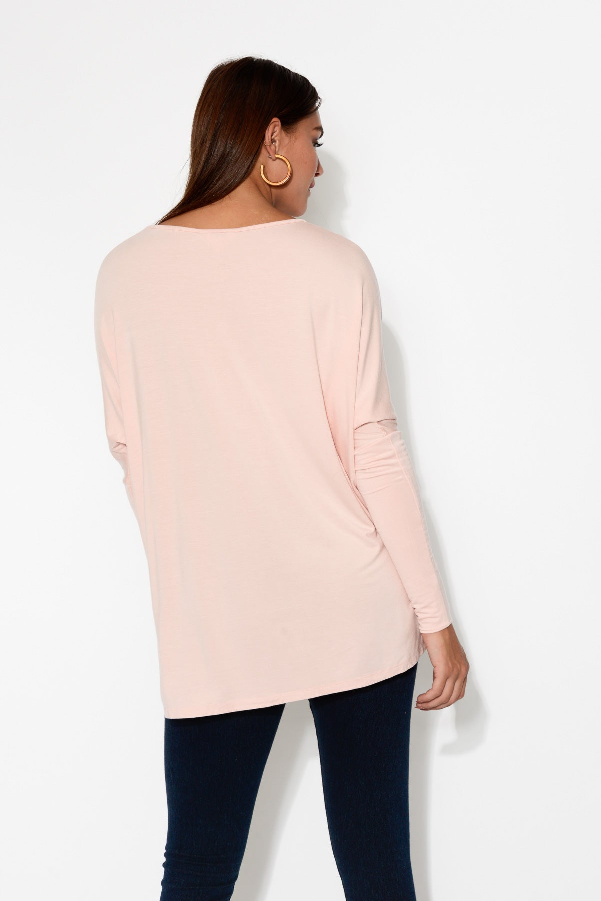 Liv Pink Sleeved Bamboo Top - Blue Bungalow