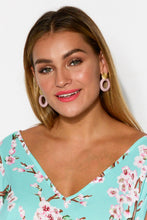 Liv Purple and Gold Circle Earring - Blue Bungalow