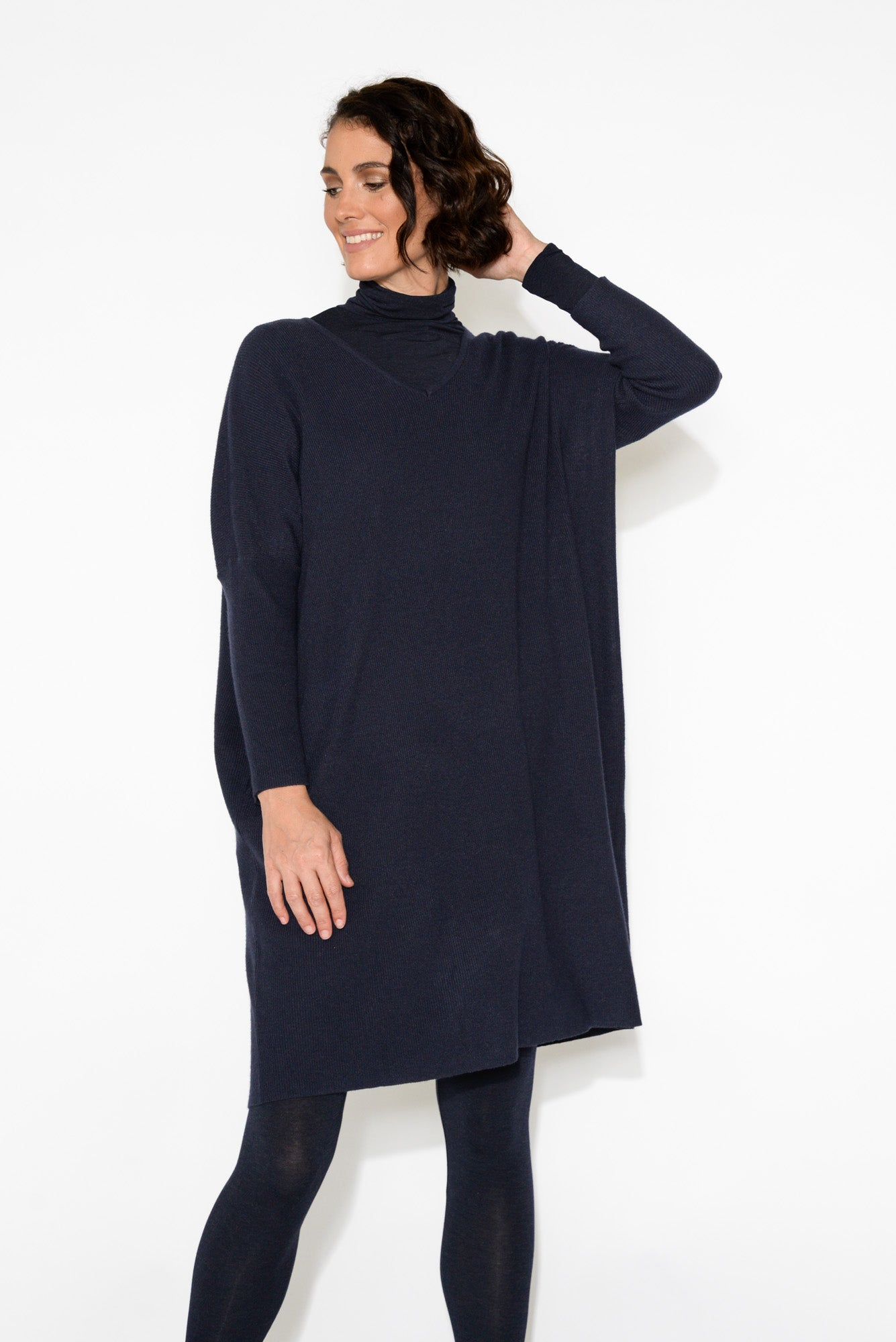 Lola Navy Knitted Tunic