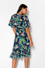Lotus Navy Floral Wrap Dress - Blue Bungalow