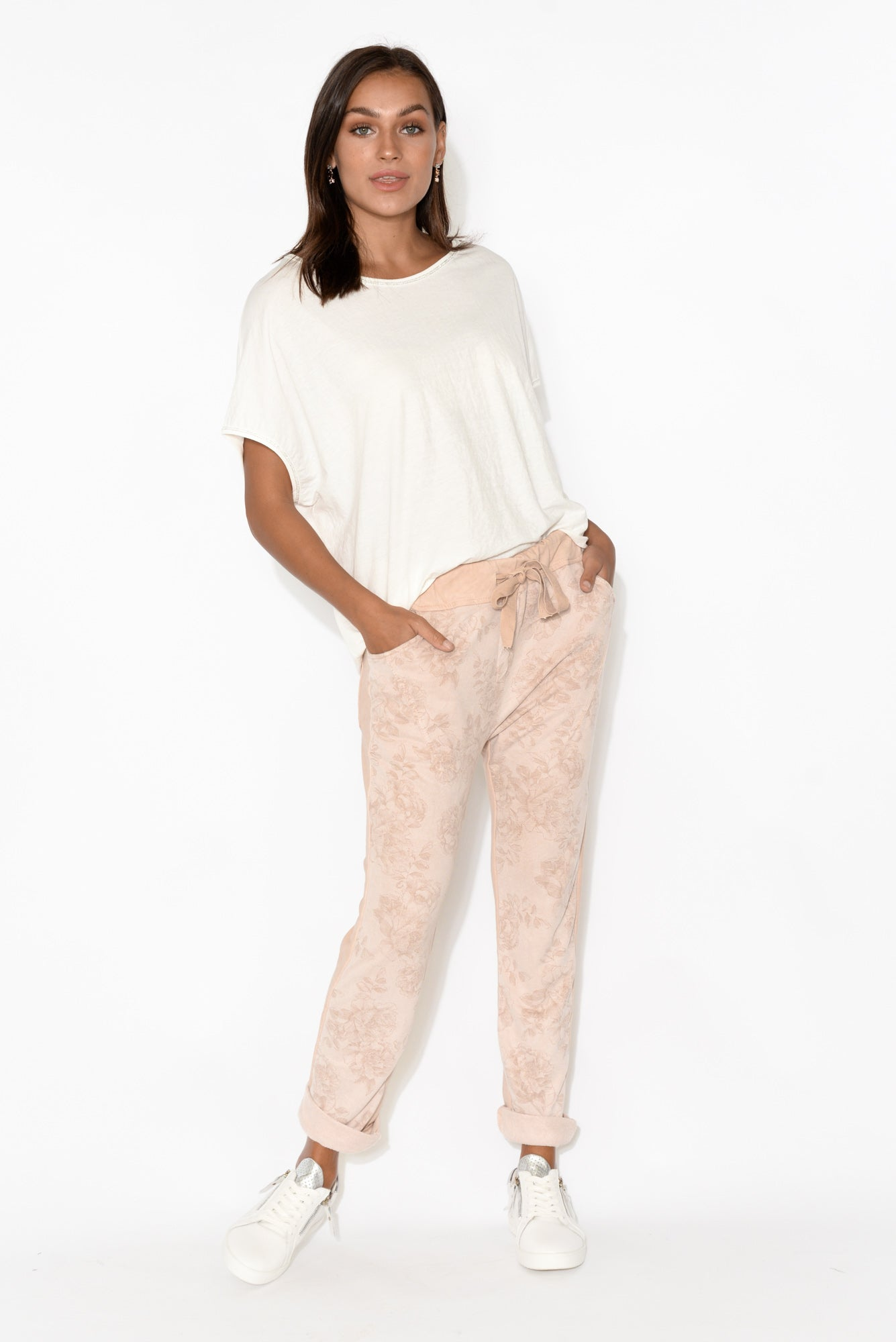 Edith Pink Floral Cotton Pant