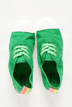 Bonn Green Washed Canvas Sneaker