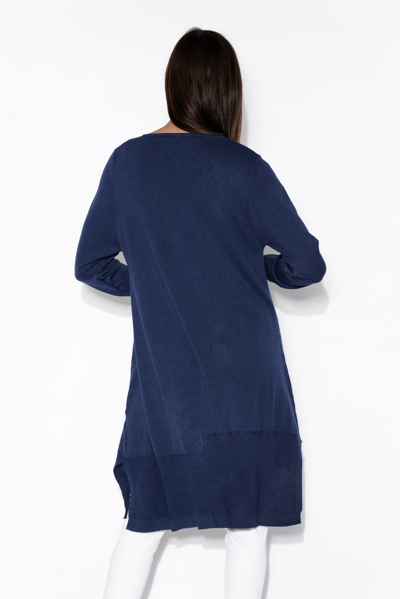 Macy Blue V Neck Pocket Tunic