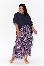 Lexi Pink Animal Ruffle Tier Skirt