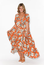 Maple Wildflower Peak Maxi Dress