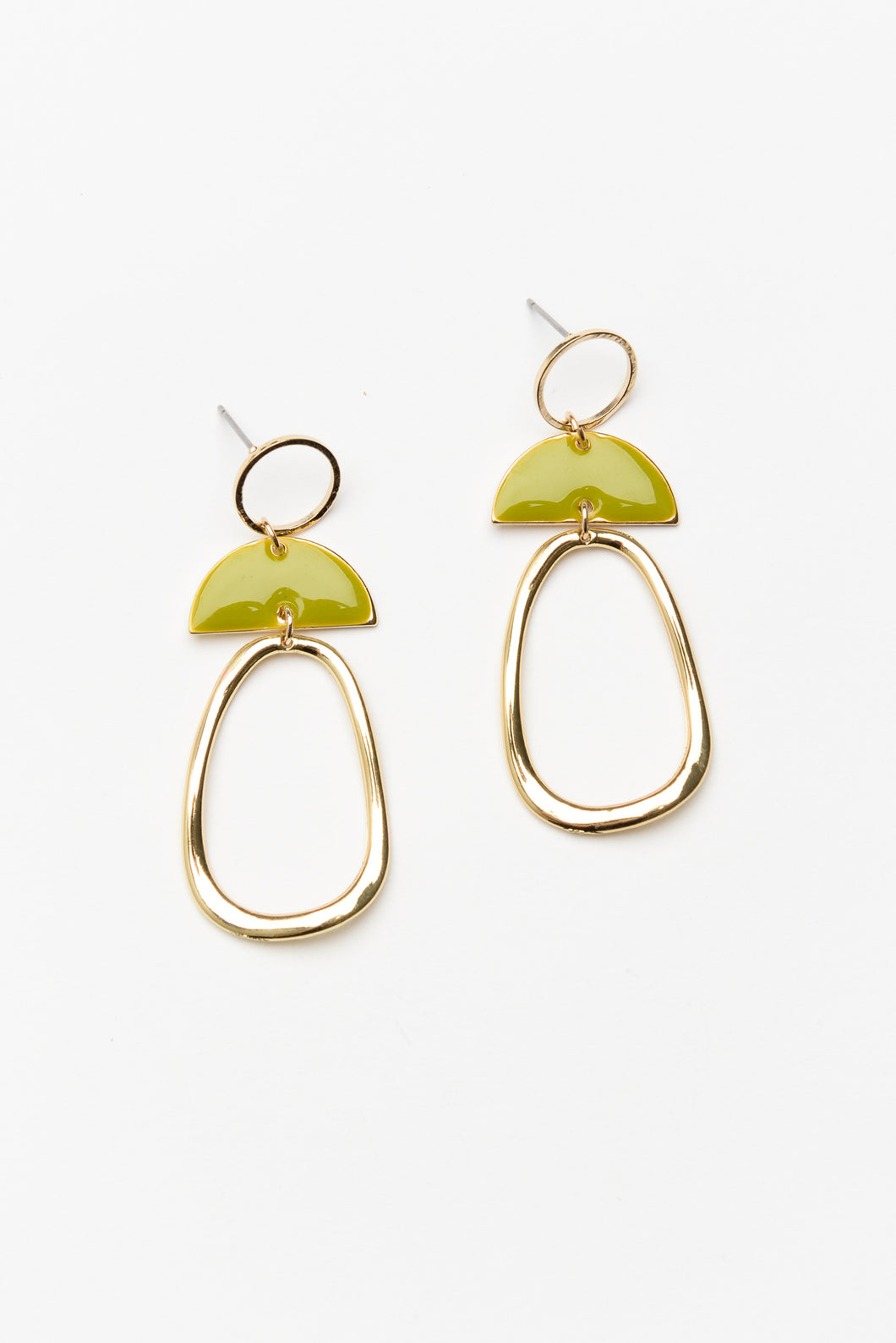 Marissa Green and Gold Earring