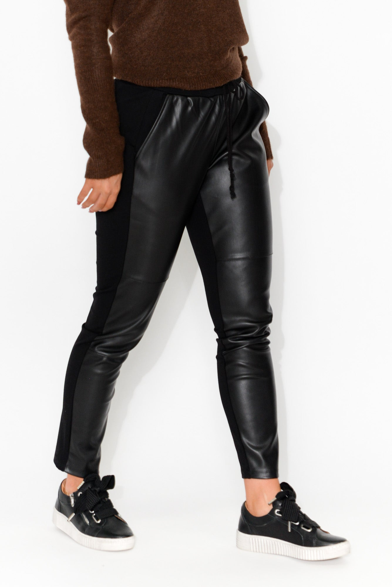 Marley Faux Leather Jogger Pant