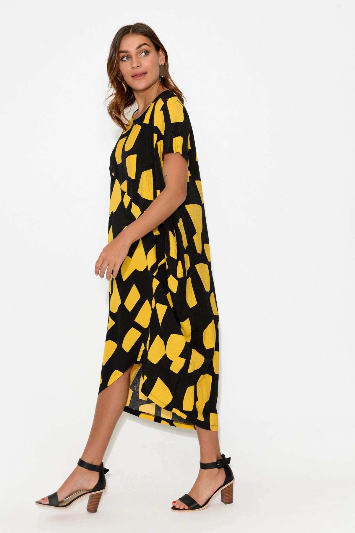 Marlow Yellow Block Midi Dress - Blue Bungalow