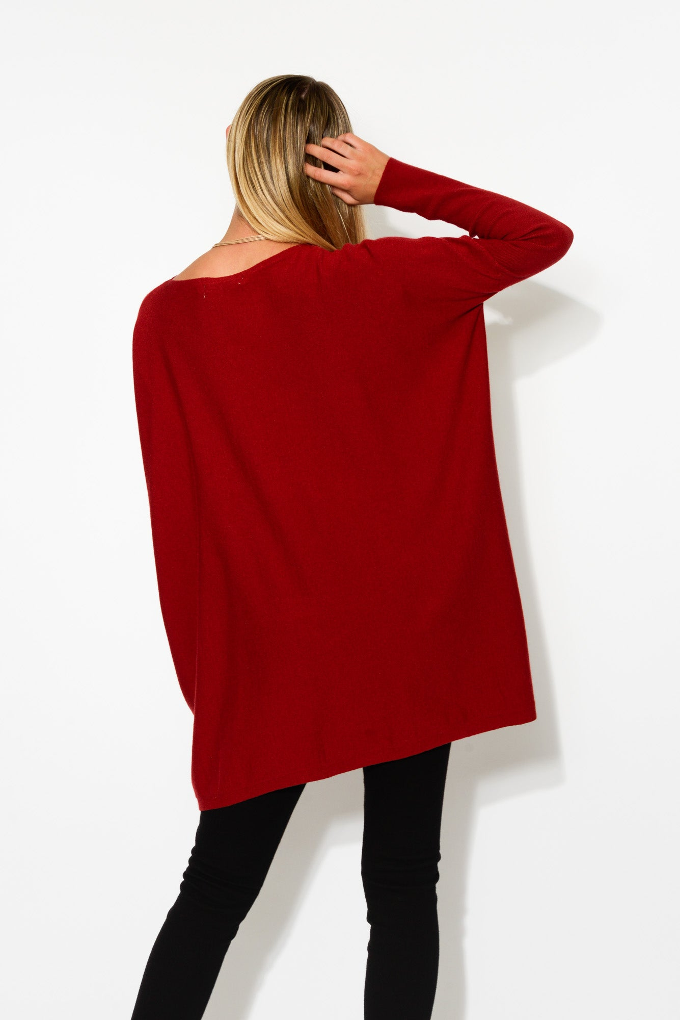 Marnie Red Drape Jumper - Blue Bungalow