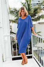 Mary Cobalt Bamboo Batwing Dress