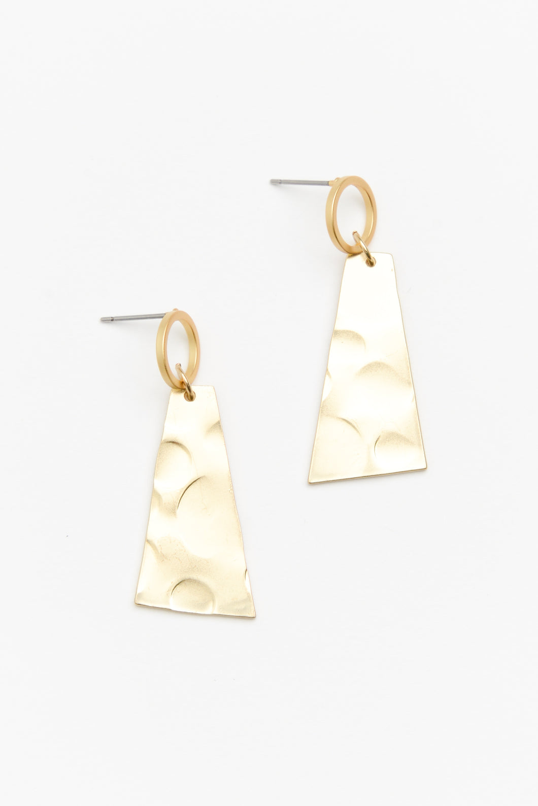 Matte Gold Geo Shape Earring