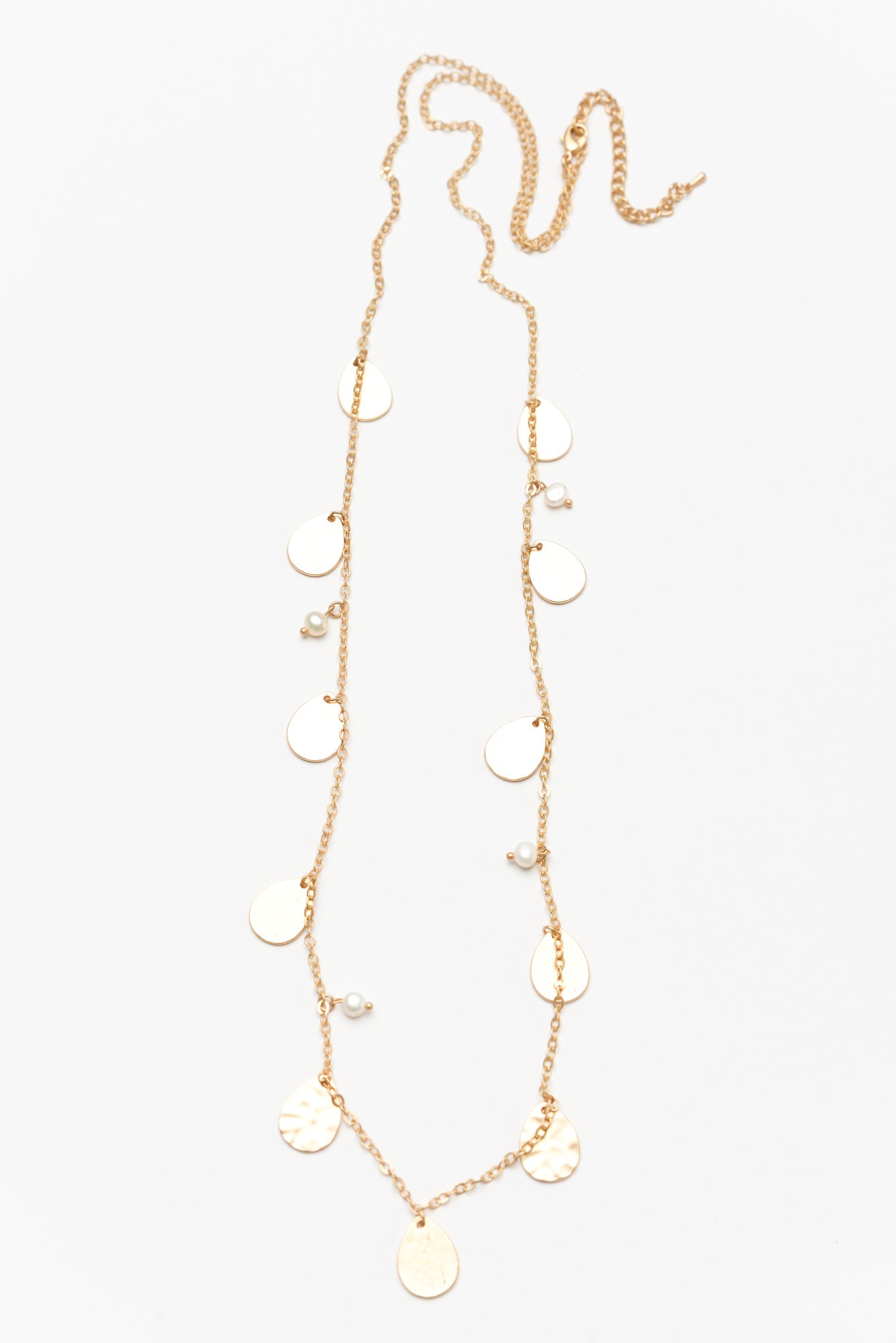 Mavi Gold Teardrop Chain Necklace