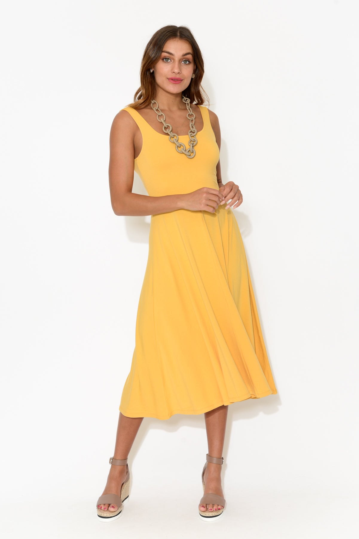 Melanie Yellow Bamboo Dress