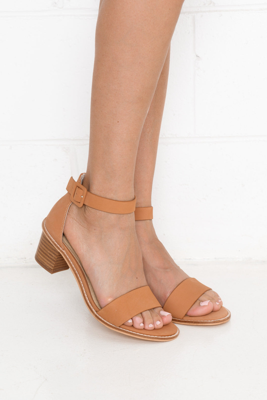 Mickee Coral Leather Heel