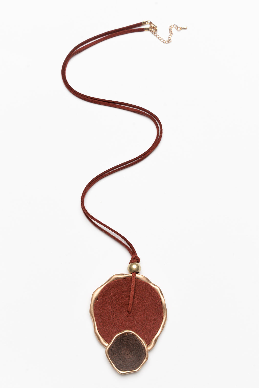 Minerva Burgundy Woven Layer Necklace