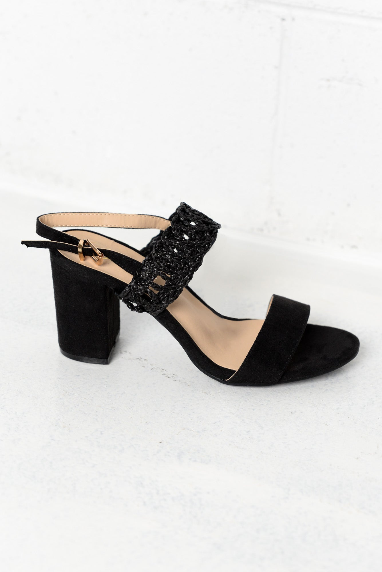 Monica Black Heel Sandal