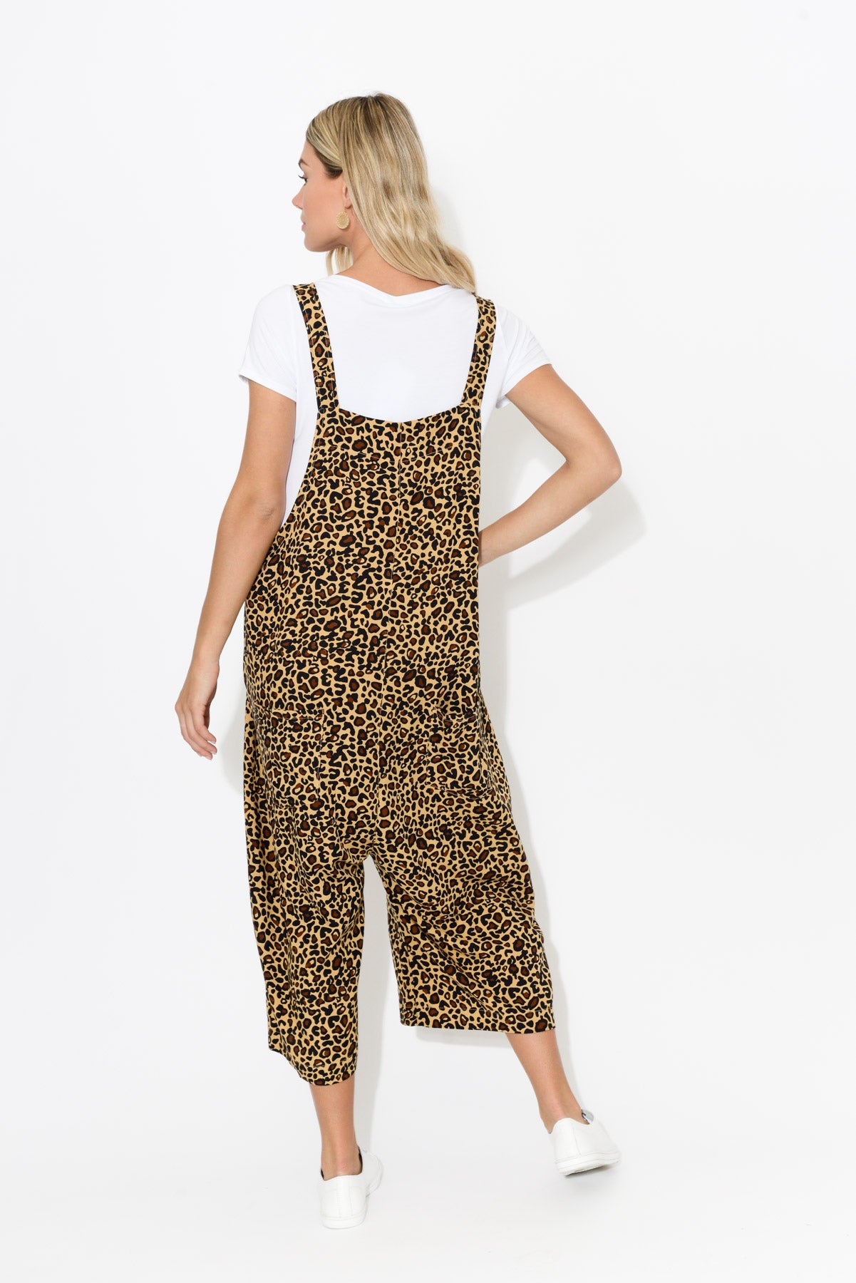 Monica Leopard Overall Jumpsuit