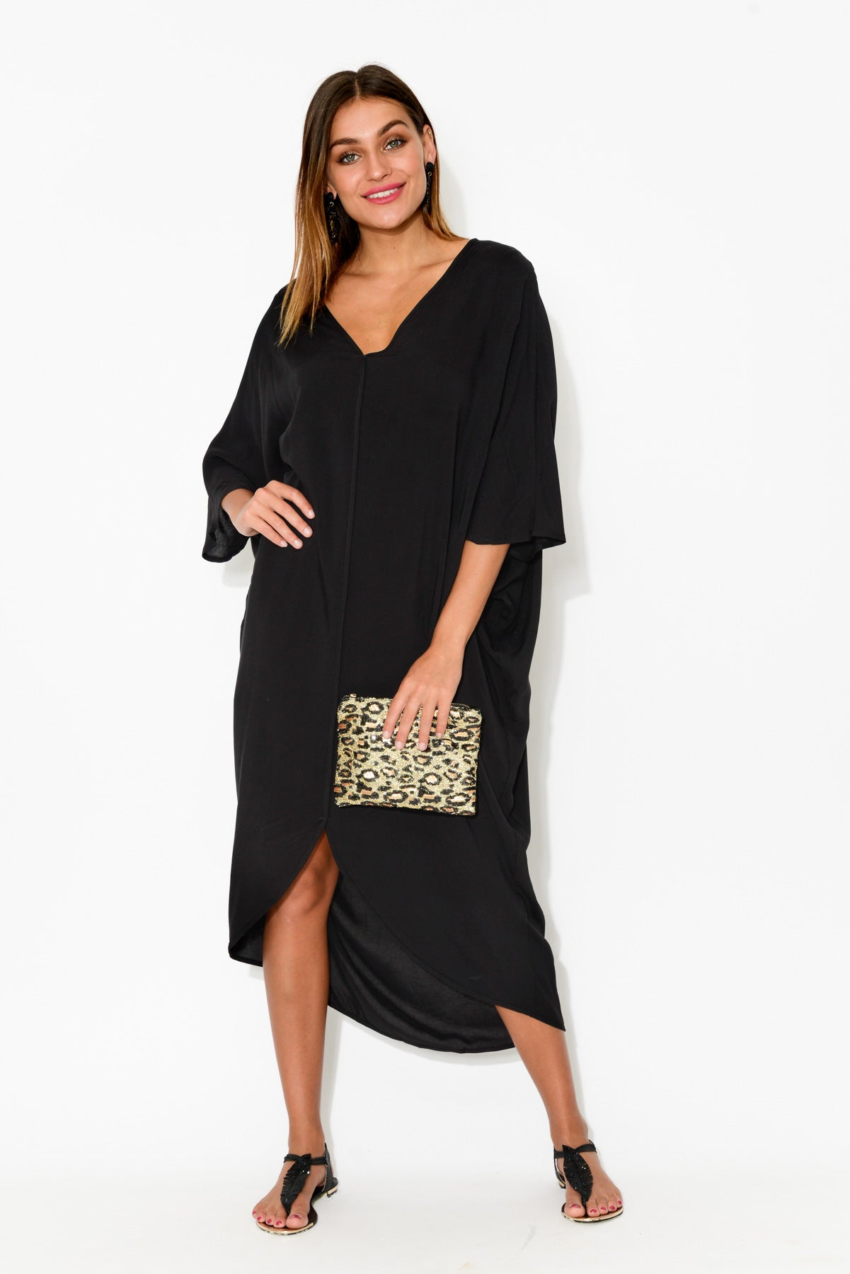 Monki Black Kaftan