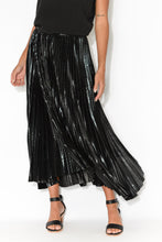 Moonstruck Black Pleated Skirt