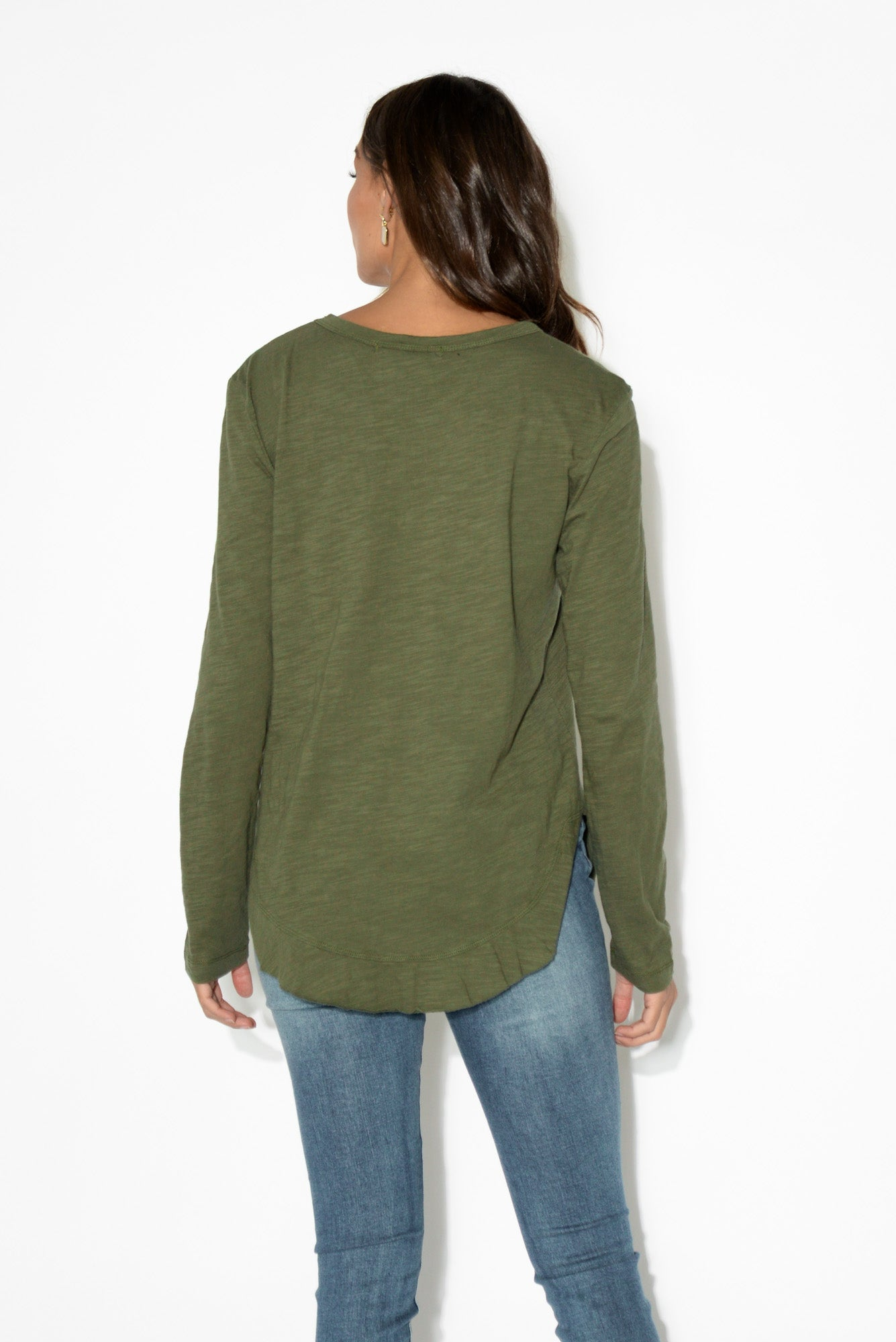 Mosman Khaki Long Sleeve Tee