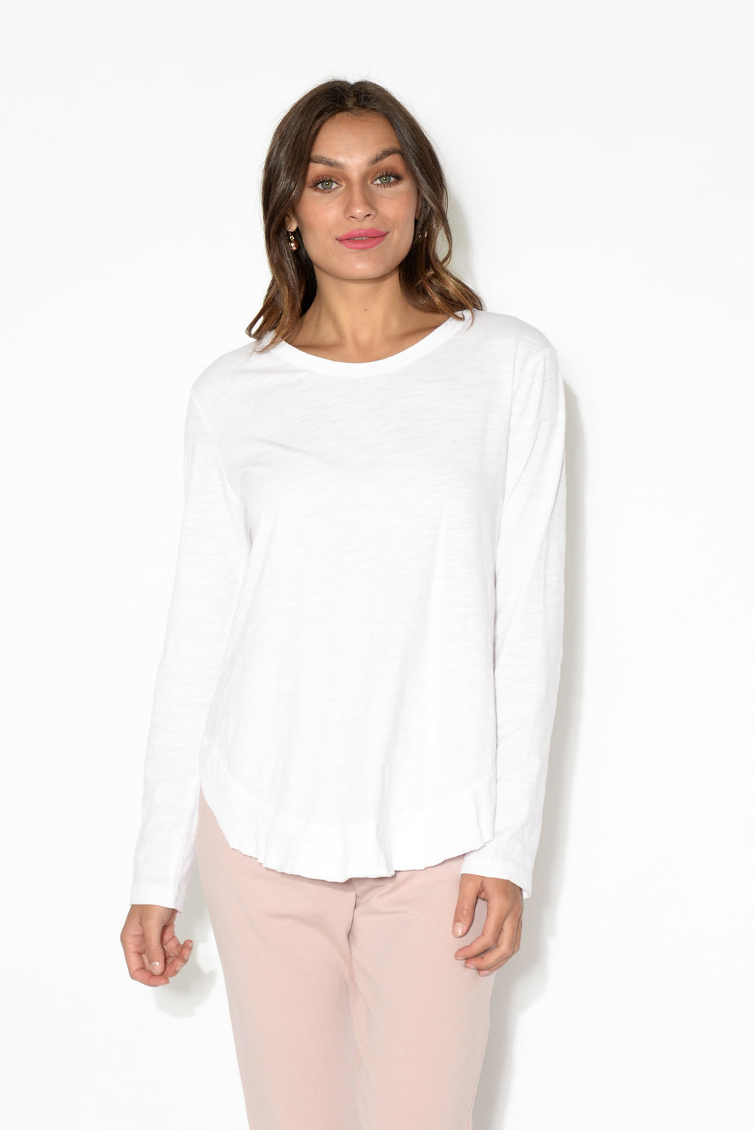 Mosman White Long Sleeve Tee