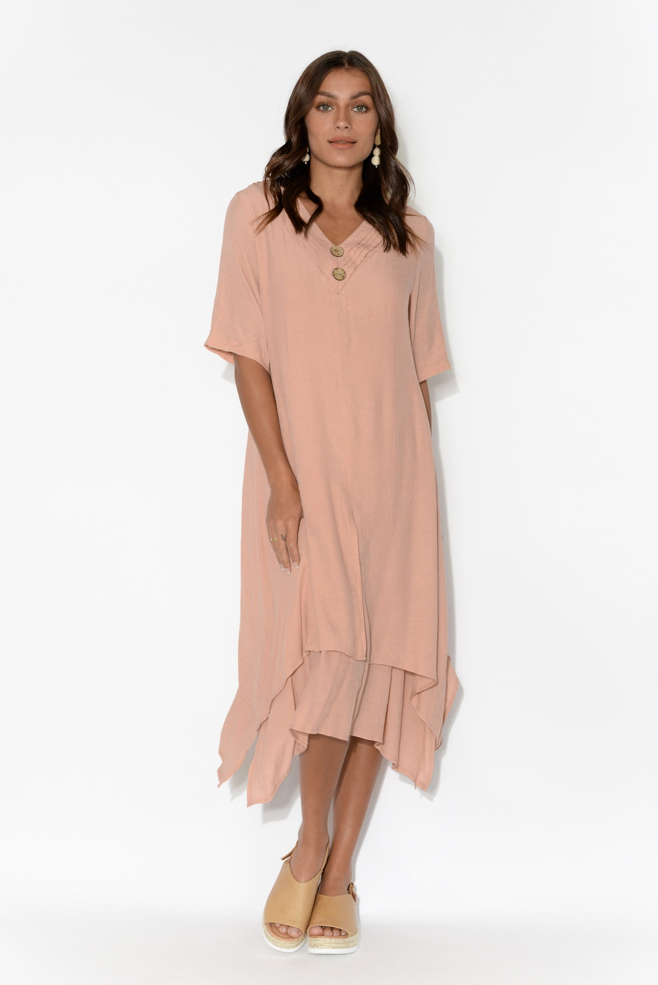 Nala Pink Double Layer Dress