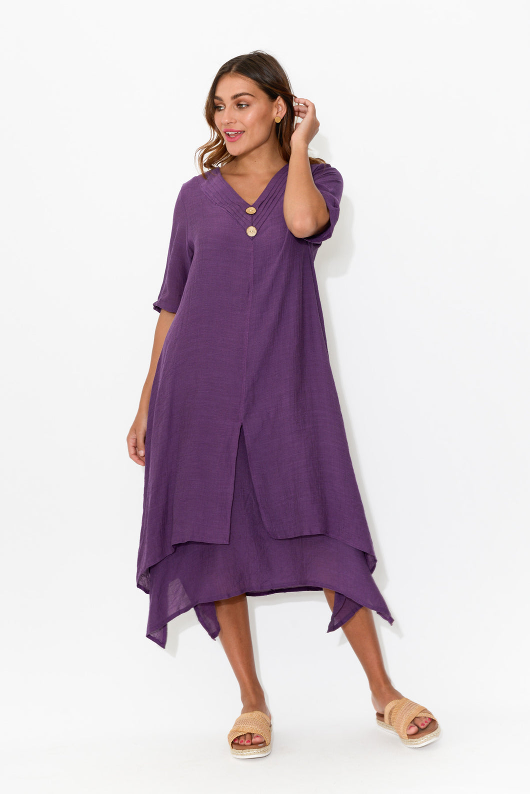 Nala Purple Layers Dress - Blue Bungalow