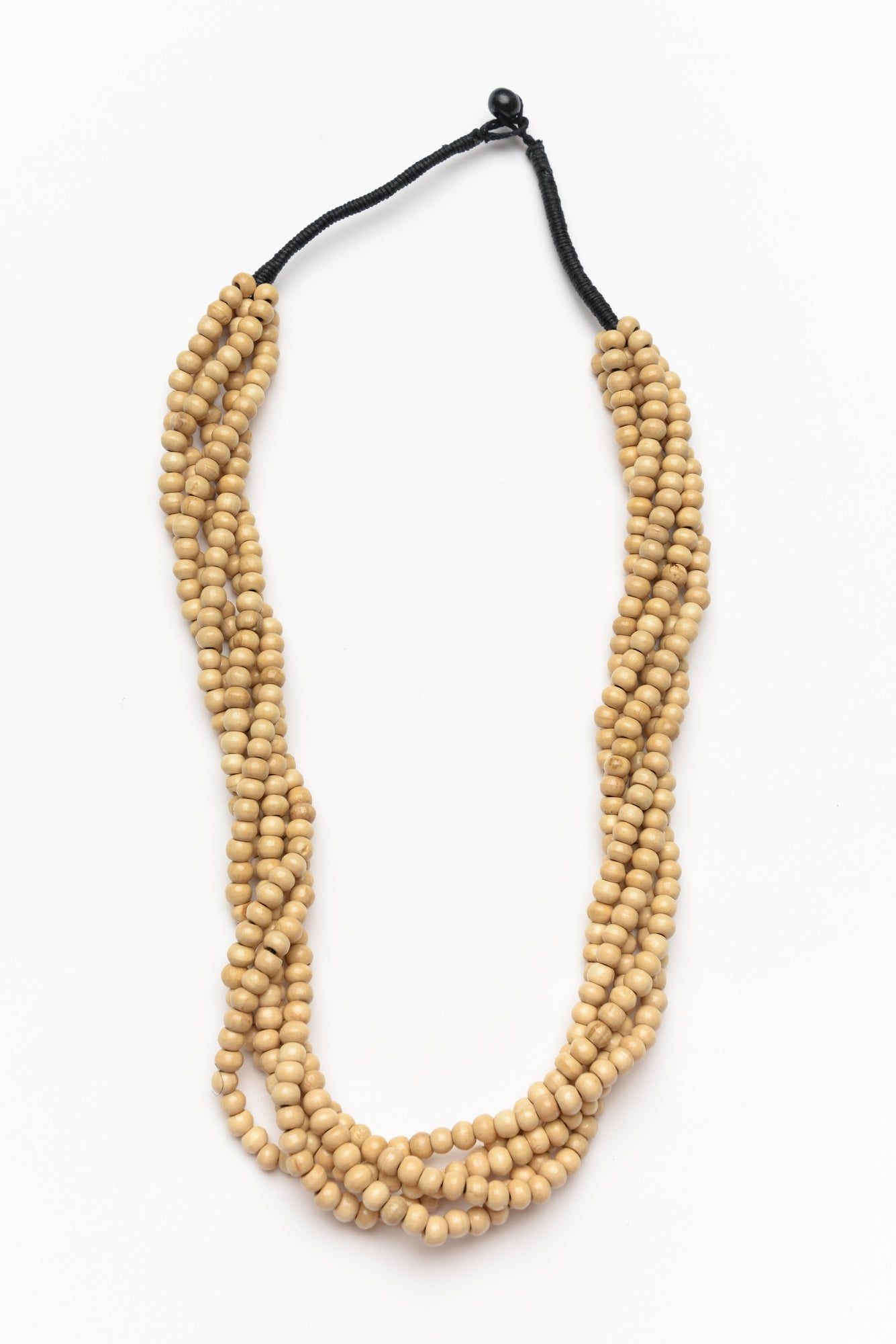 Natural Bead Twist Necklace