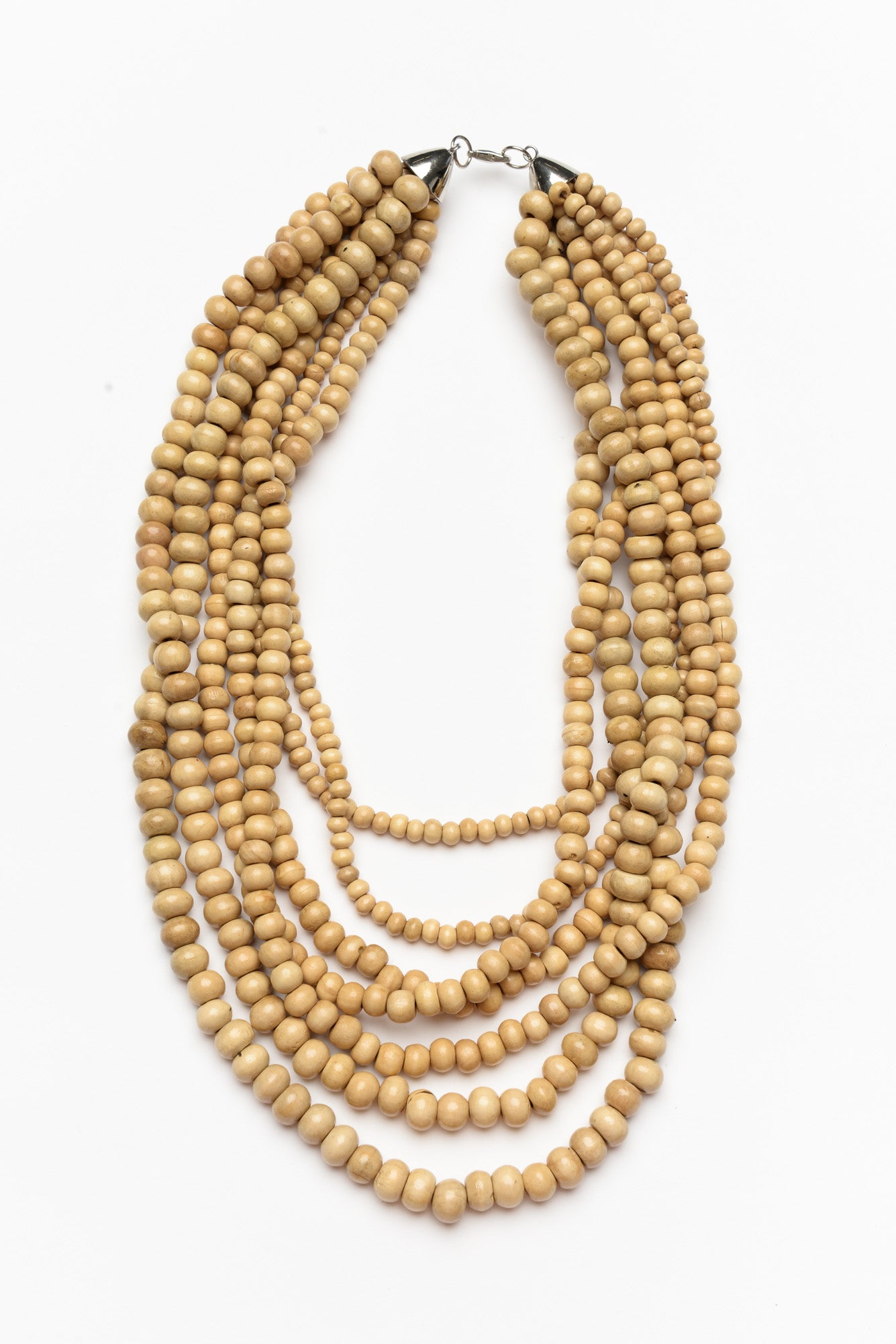 Natural Beaded Layer Necklace