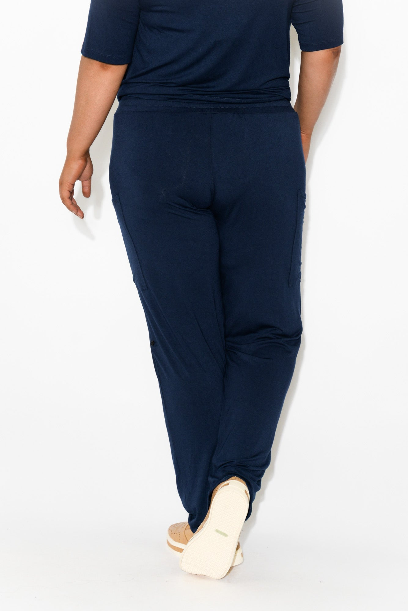 Navy Bamboo Pocket Pant