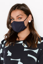 Navy Micro Modal Triple Layer Face Mask