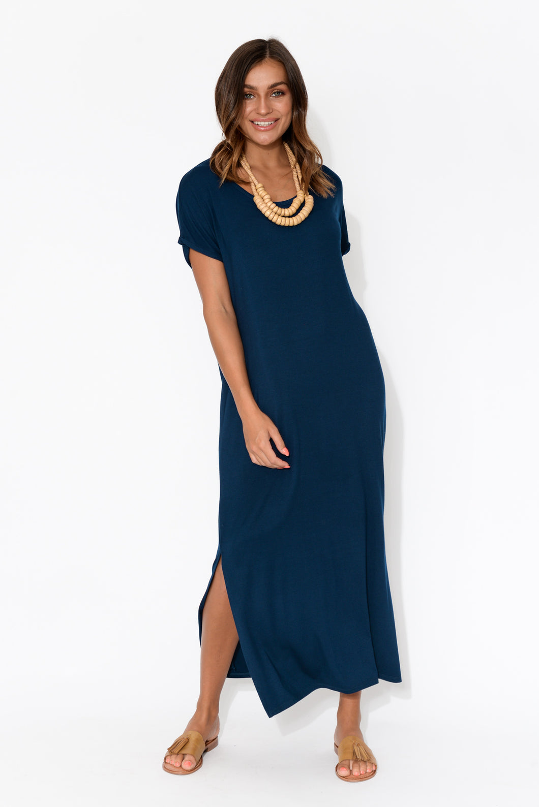 Navy Bamboo Elsie Dress