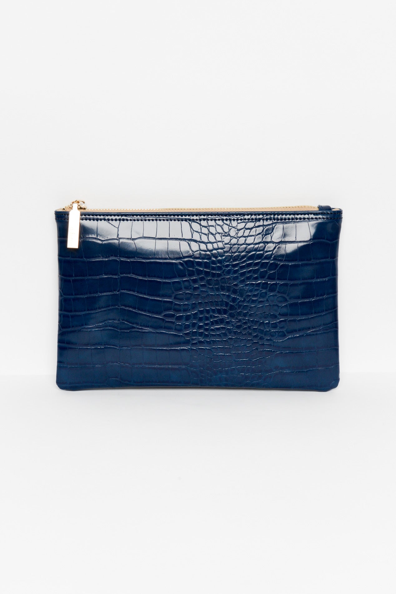 Navy Croc Zippie Clutch - Blue Bungalow