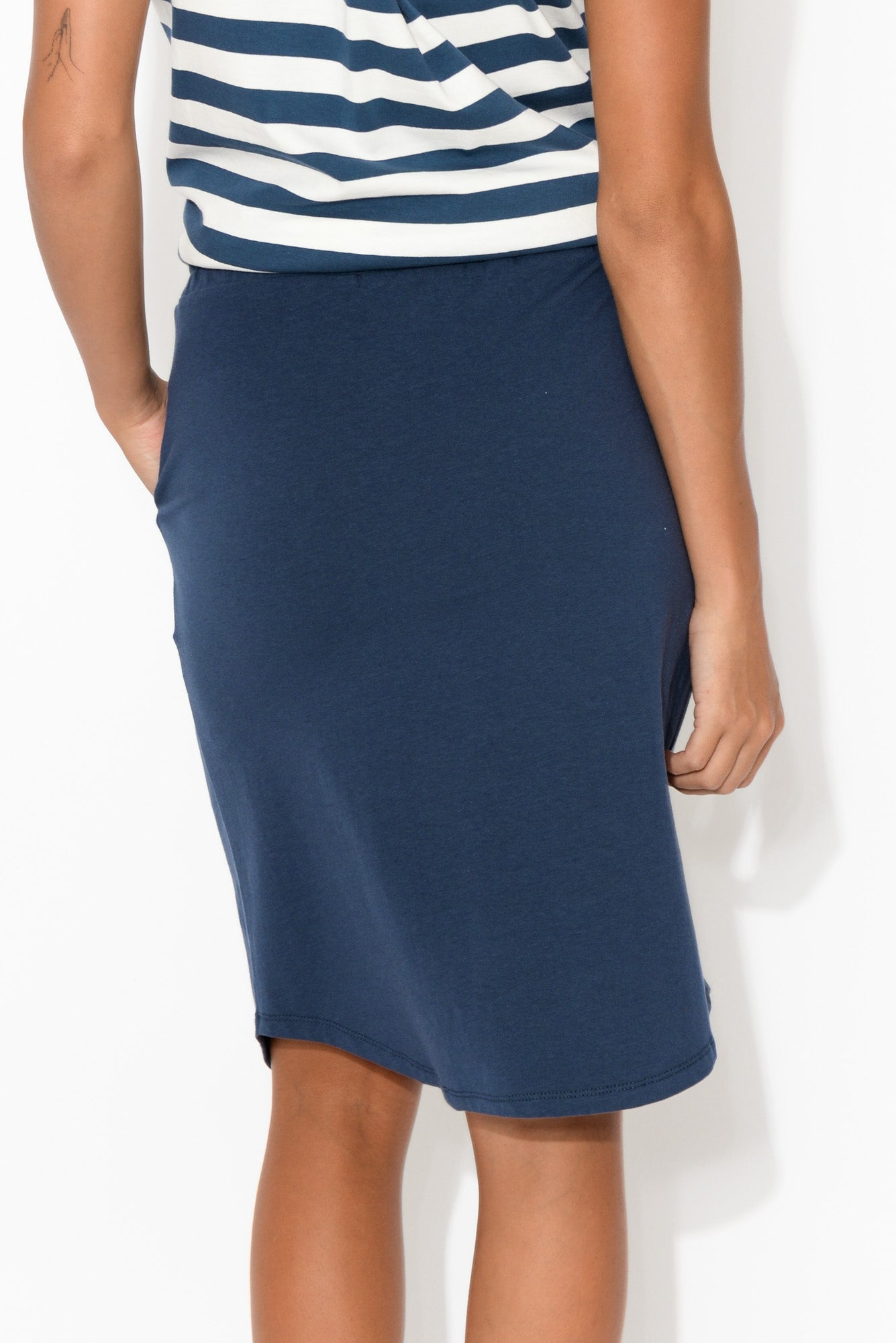 Navy Everyday Drawstring Skirt
