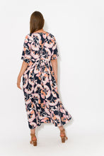 Navy Floral Tie Back Dress - Blue Bungalow