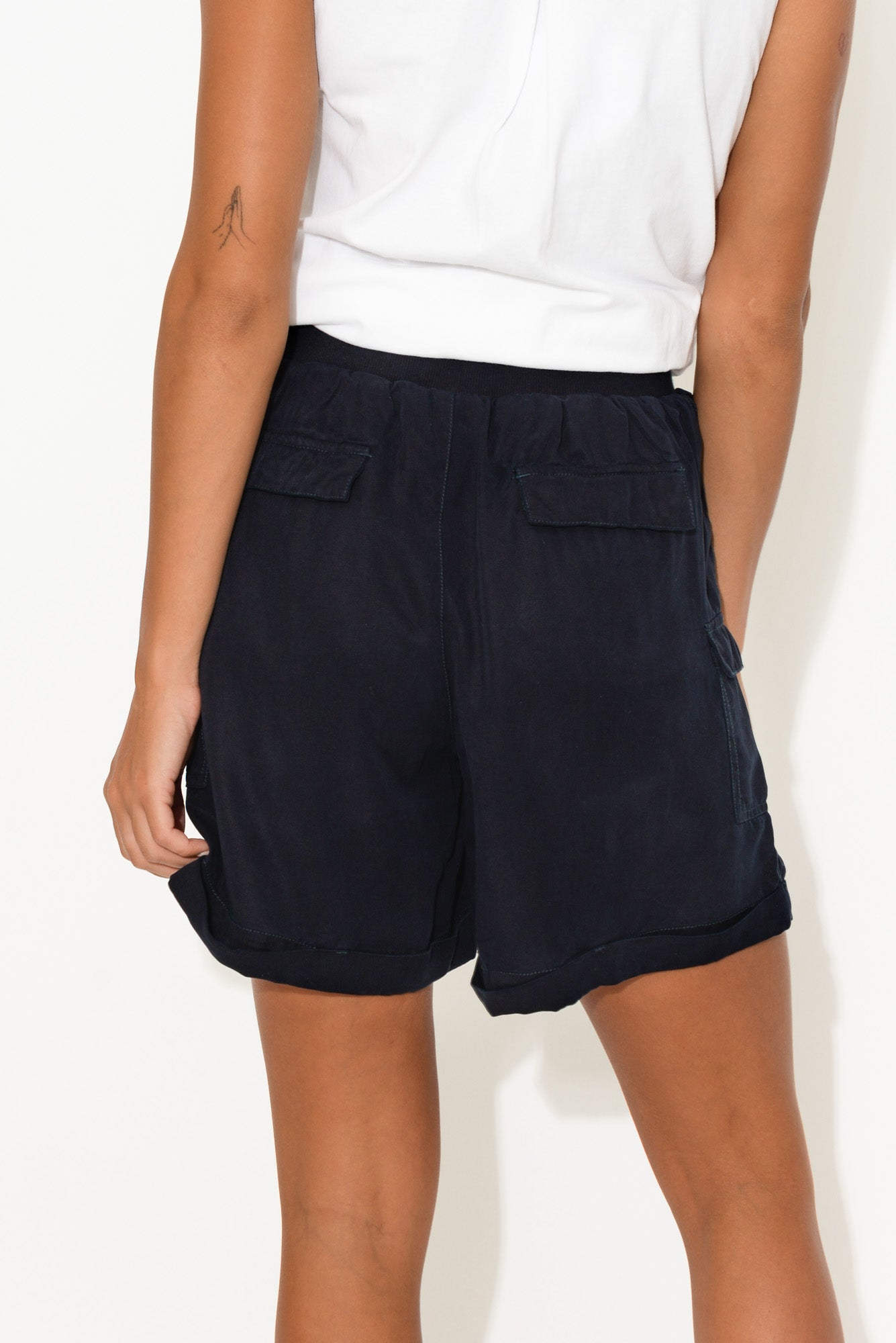Navy Lake Side Short