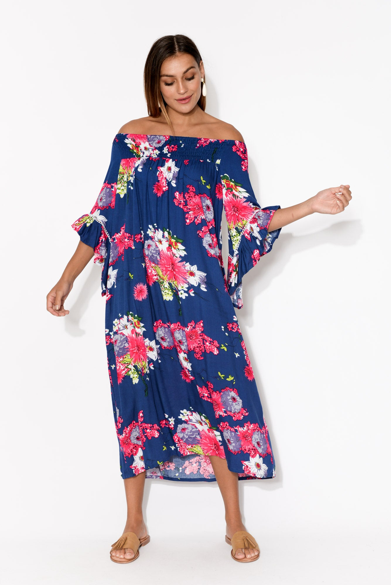Navy Sakura Amanda Maxi Dress