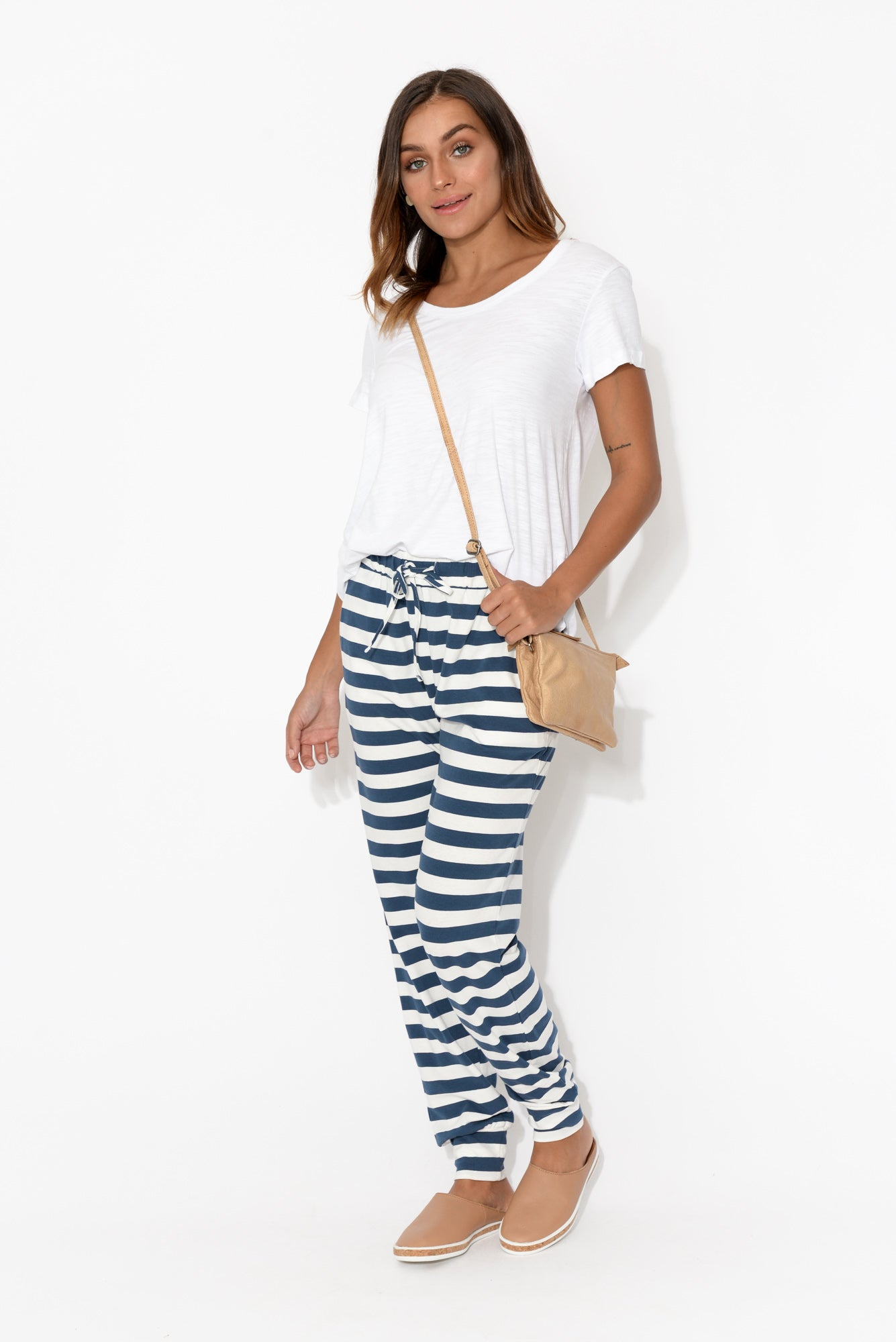 Navy Stripe Everyday Tie Pant